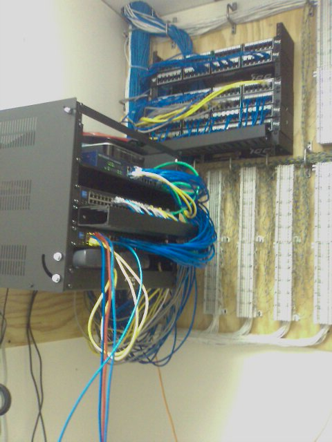 networking cables after